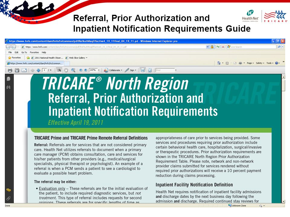 Referral, Prior Authorization and Inpatient Notification Requirements Guide