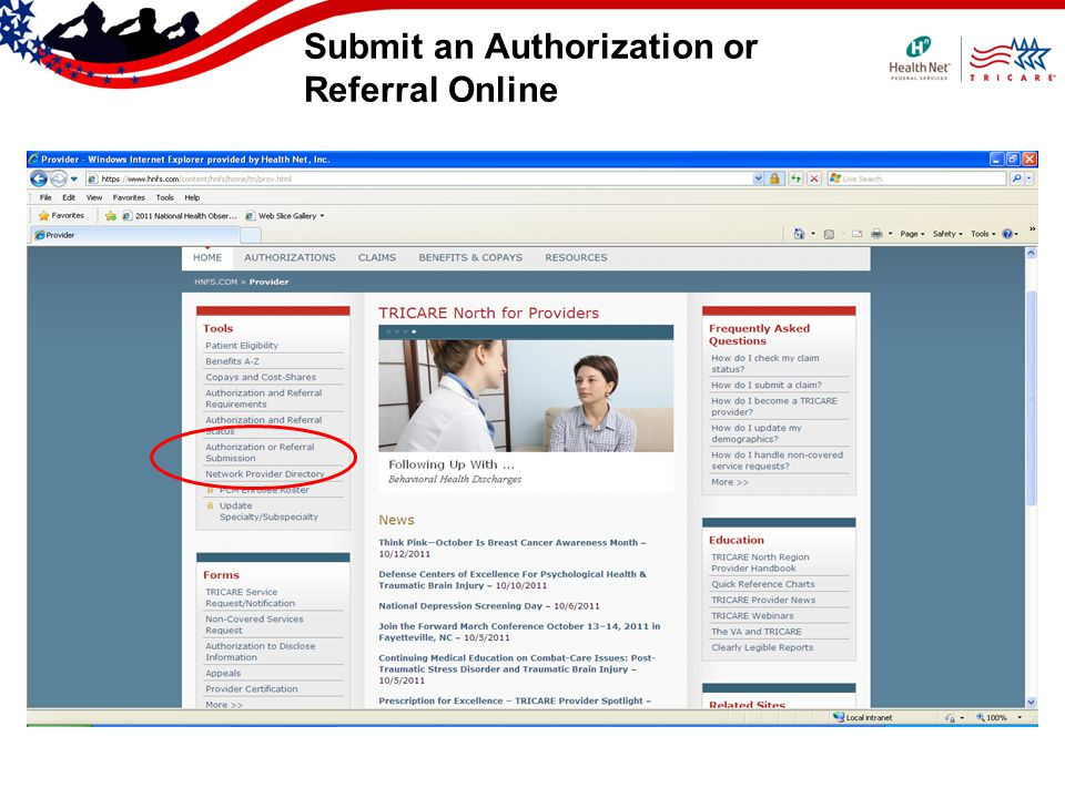 Submit an Authorization or Referral Online