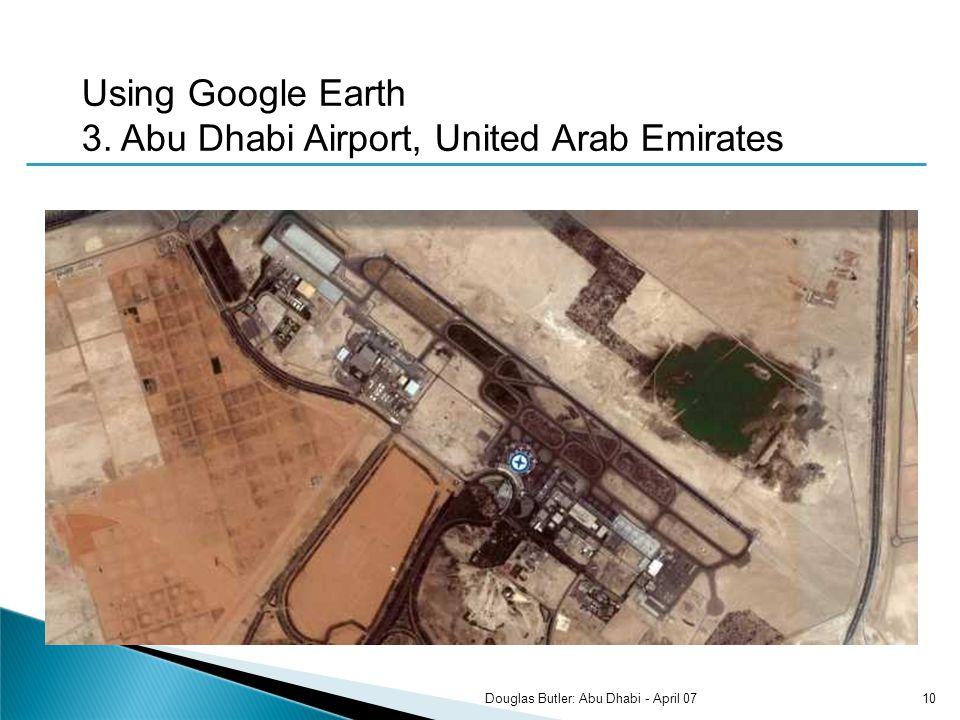 Using Google Earth 3.