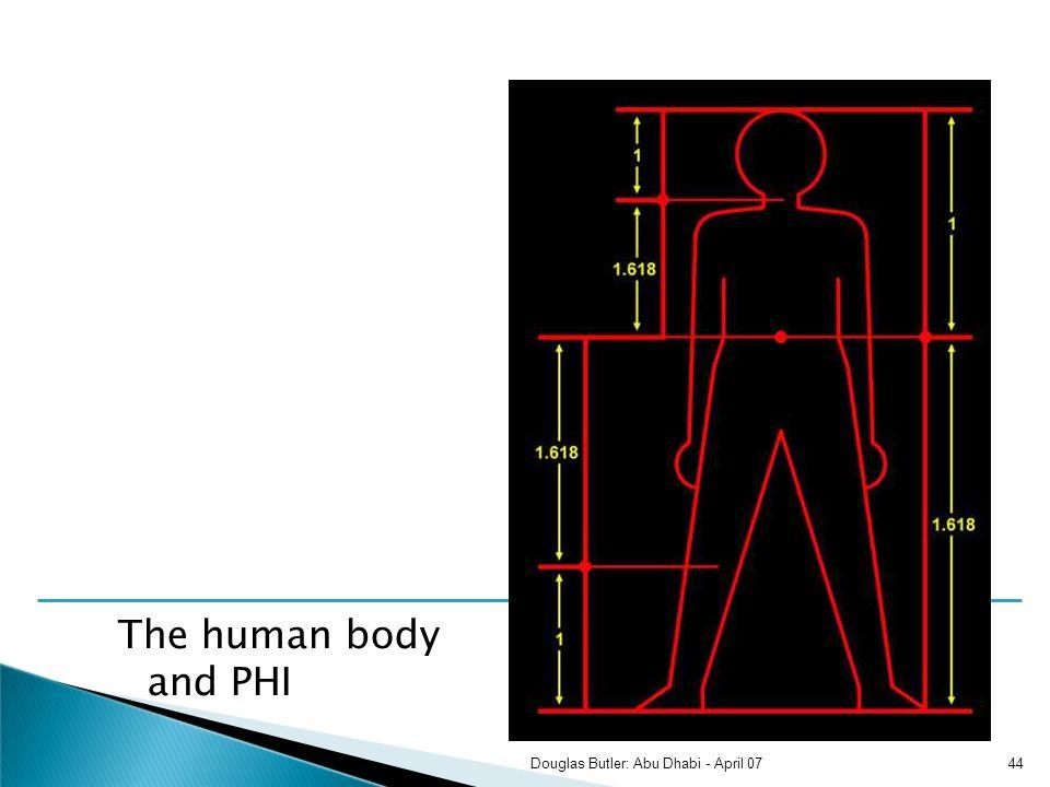 The human body and PHI 44Douglas Butler: Abu Dhabi - April 07