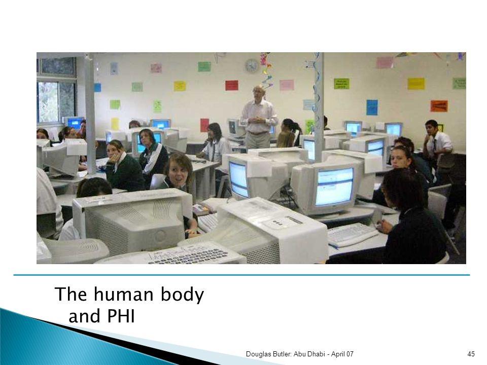 The human body and PHI 45Douglas Butler: Abu Dhabi - April 07