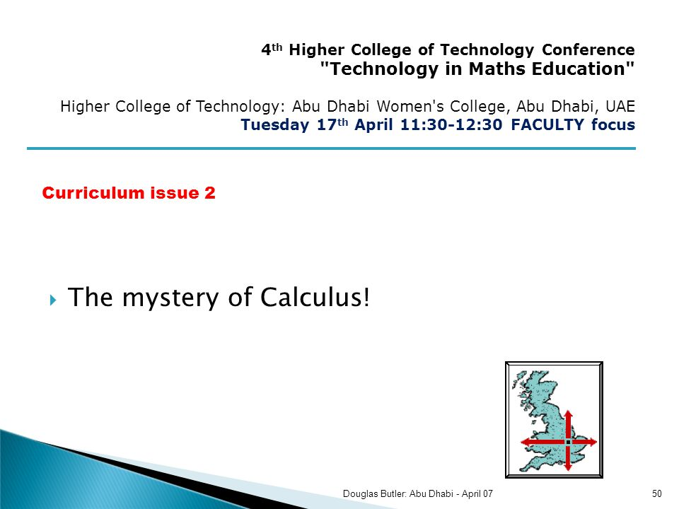 The mystery of Calculus.