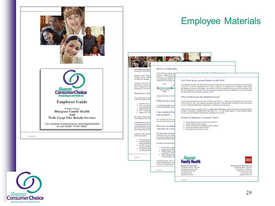 29 Employee Materials