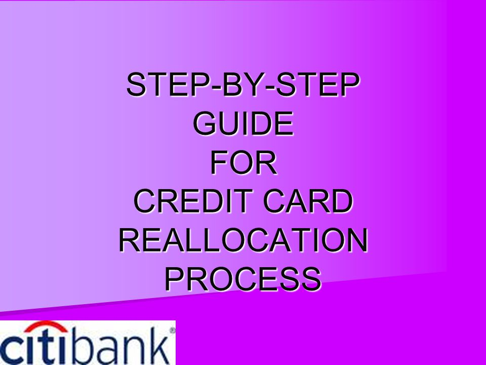 Reallocation Make sure to do the reallocation for EACH transaction.