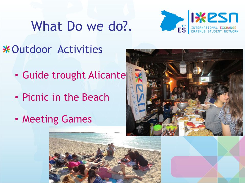 What Do we do . Outdoor Activities Guide trought Alicante Picnic in the Beach Meeting Games