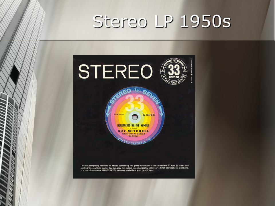 Stereo LP 1950s