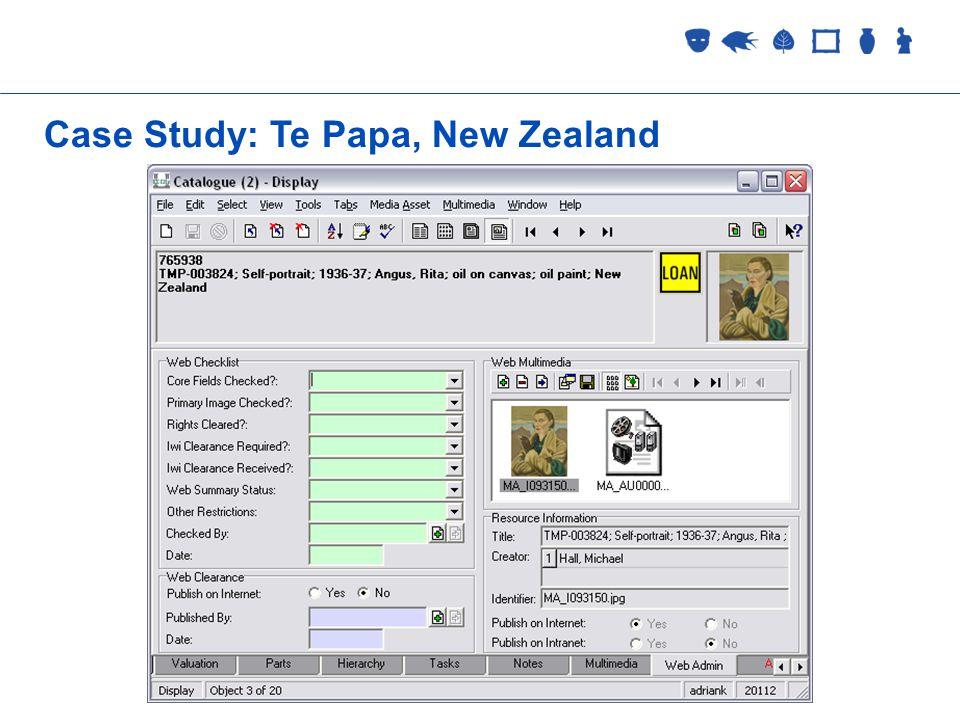 Collections Management 2 September 2005 Case Study: Te Papa, New Zealand