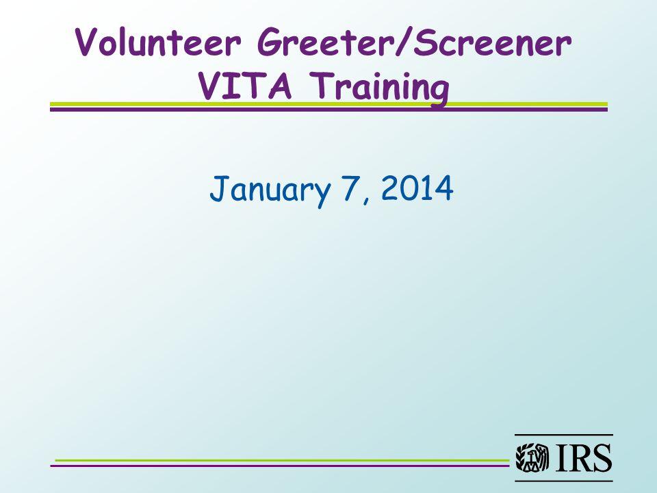 VITA Greeter/Screener Tax Payer
