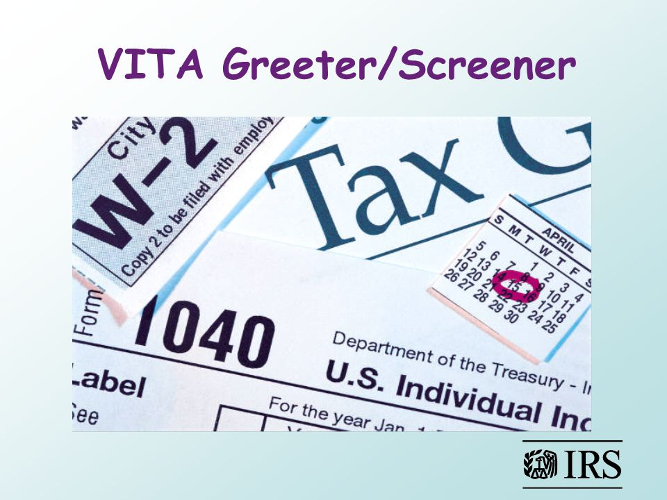 VITA Greeter/Screener Tax Payer