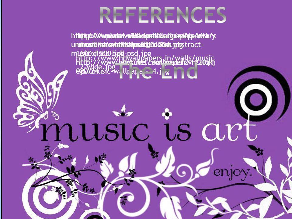 http://upload.wikimedia.org/wikipedia/c ommons/e/e8/Music_01754.jpg http://www.hdwallpapers.in/walls/music _2-wide.jpg http://www.tws3d.com/wallpapers