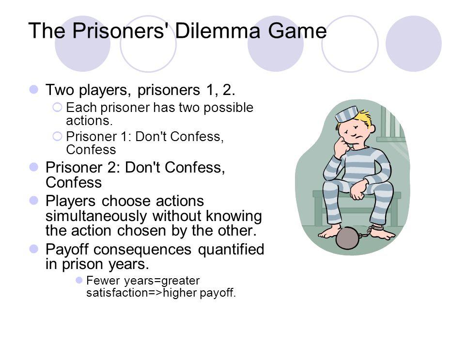 Prisoners Dilemma in Normal or Strategic Form Prisoner 2 Prisoner 1 Dont Confess Confess Dont Confess 1, 115, 0 Confess0, 155, 5