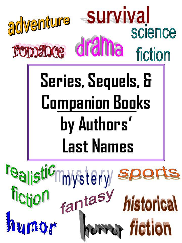 Series, Sequels, & Companion Books by Authors Last Names