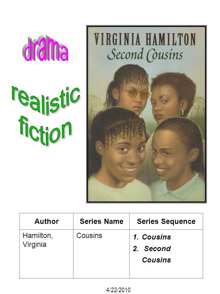 AuthorSeries NameSeries Sequence Hamilton, Virginia Cousins 1.Cousins 2. Second Cousins 4/22/2010