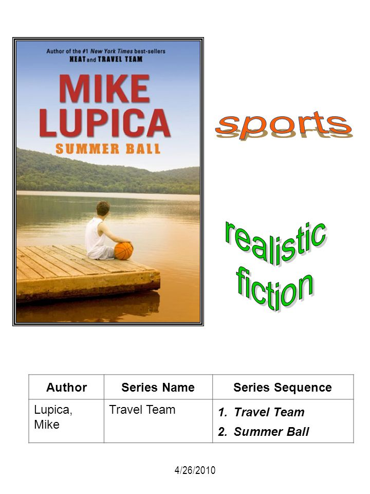 AuthorSeries NameSeries Sequence Lupica, Mike Travel Team 1.Travel Team 2.Summer Ball 4/26/2010