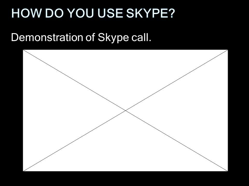 Demonstration of Skype call.