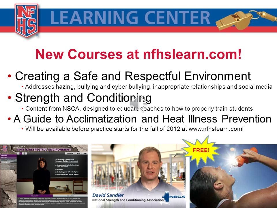 New Courses at nfhslearn.com.