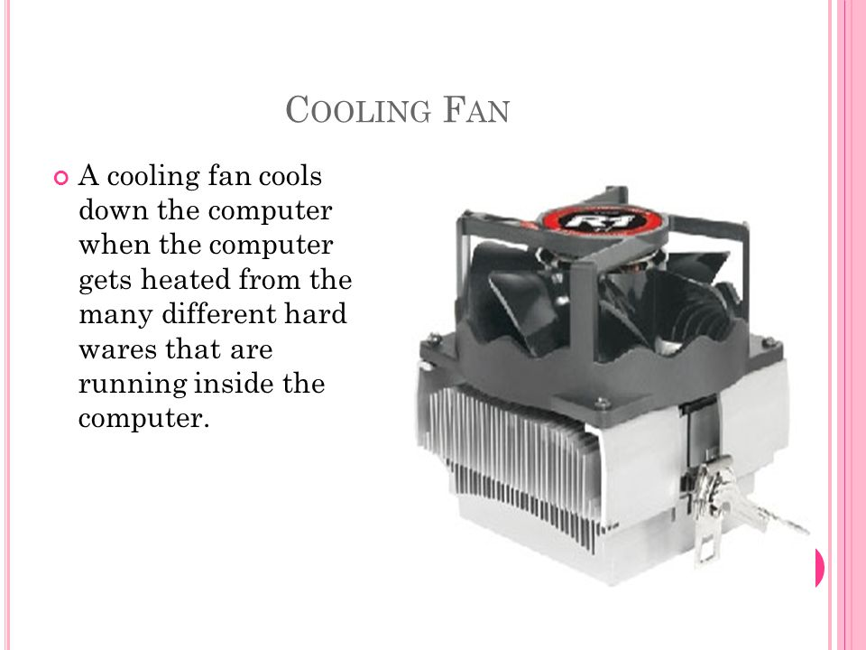 W HAT IS THE TERM CALLED THAT KEEPS THE COMPUTER TEMPERATURE UNDER CONTROL .