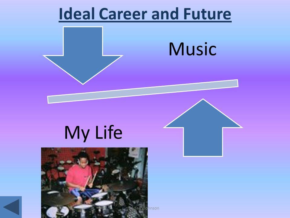 Adam Johnson Ideal Career and Future Music My Life