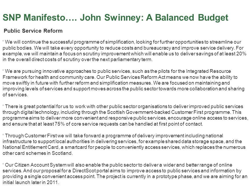 SNP Manifesto….