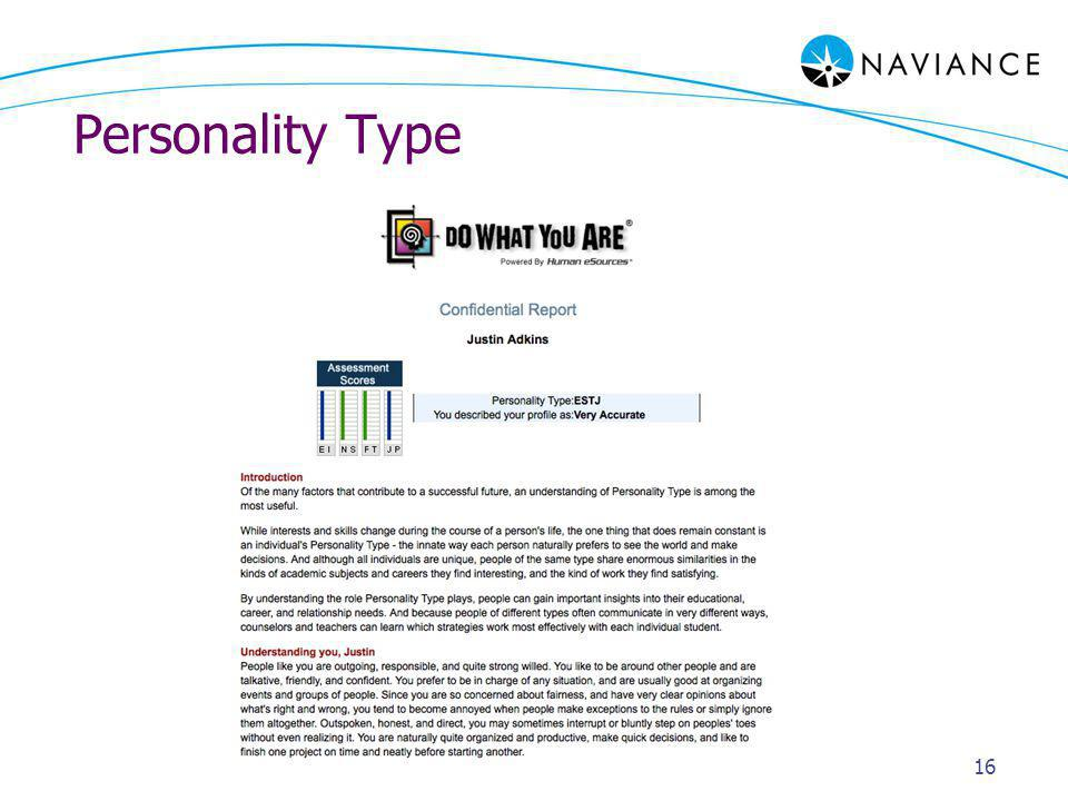 Personality Type 16