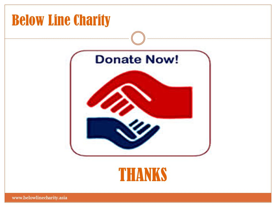 THANKS Below Line Charity www.belowlinecharity.asia