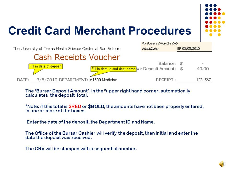 Credit Card Merchant Procedures Enter the last four digits of the Merchant ID.