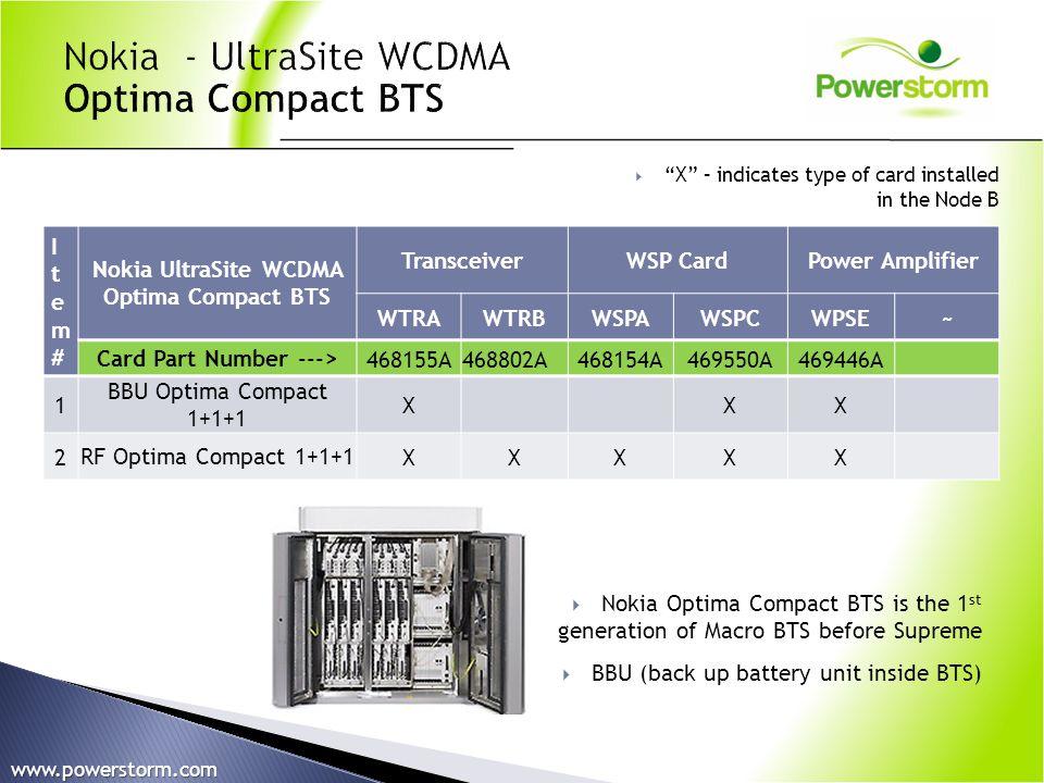 Item#Item# Nokia UltraSite WCDMA Optima Compact BTS TransceiverWSP Card Power Amplifier WTRAWTRBWSPAWSPCWPSE~ Card Part Number --->468155A468802A46815