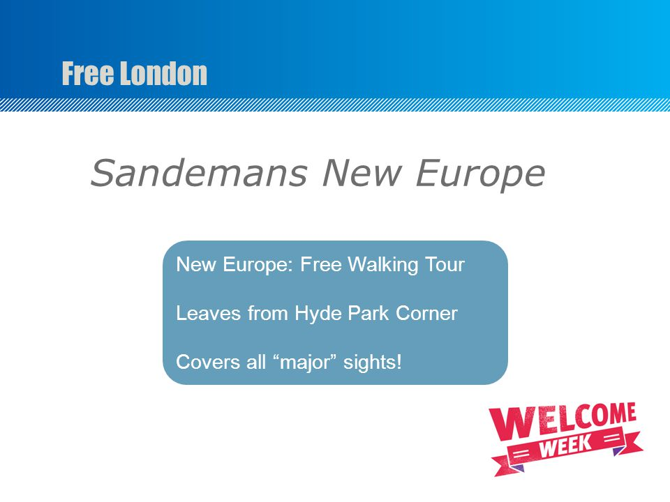 Free London New Europe: Free Walking Tour Leaves from Hyde Park Corner Covers all major sights! Sandemans New Europe