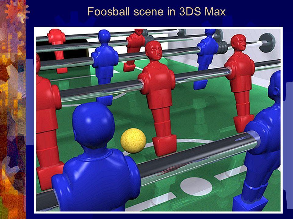 Foosball scene in 3DS Max