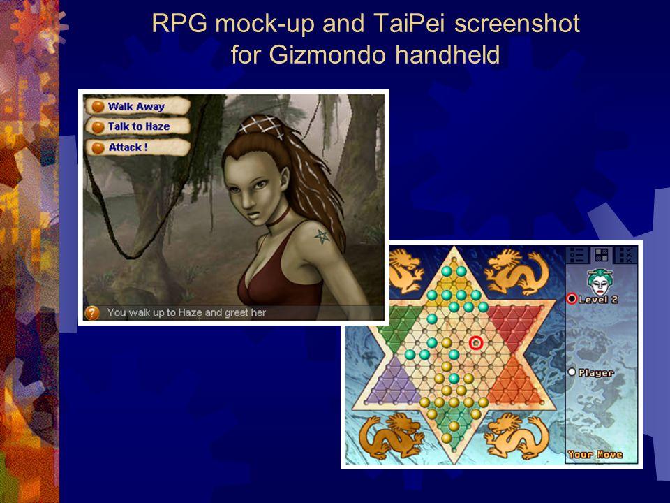 RPG mock-up and TaiPei screenshot for Gizmondo handheld