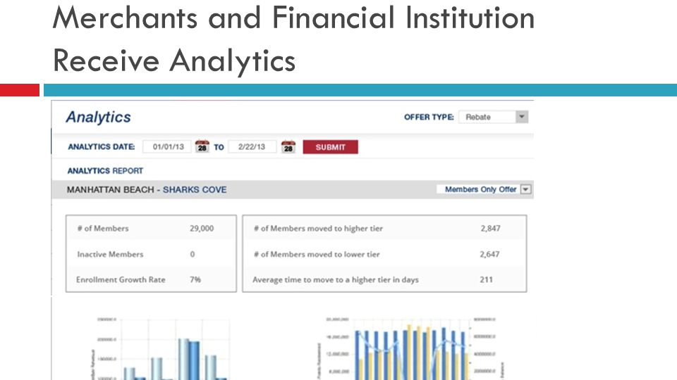 Merchants and Financial Institution Receive Analytics