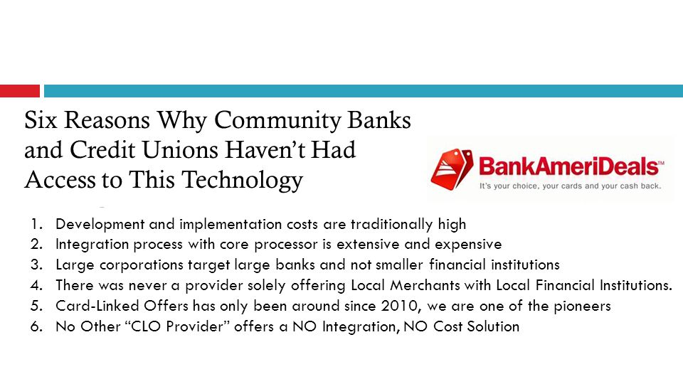 1.Keeping It Local developed a proprietary platform specifically for smaller FIs.