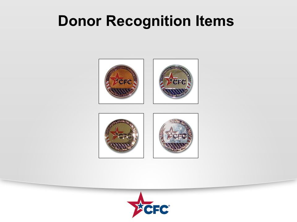 Donor Recognition Items