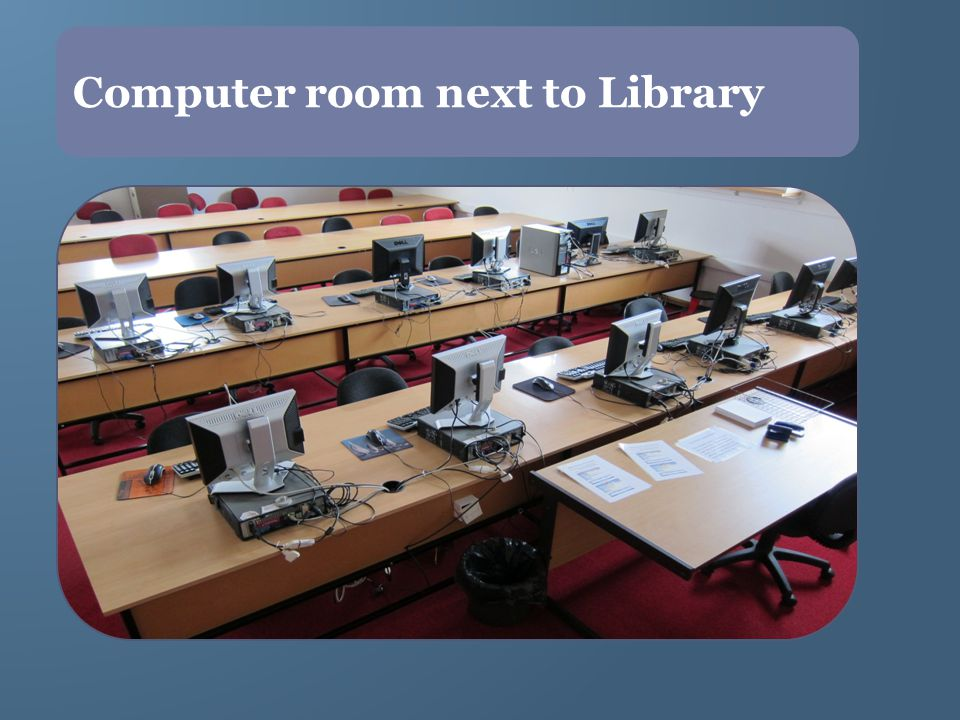 Computer room next to Library