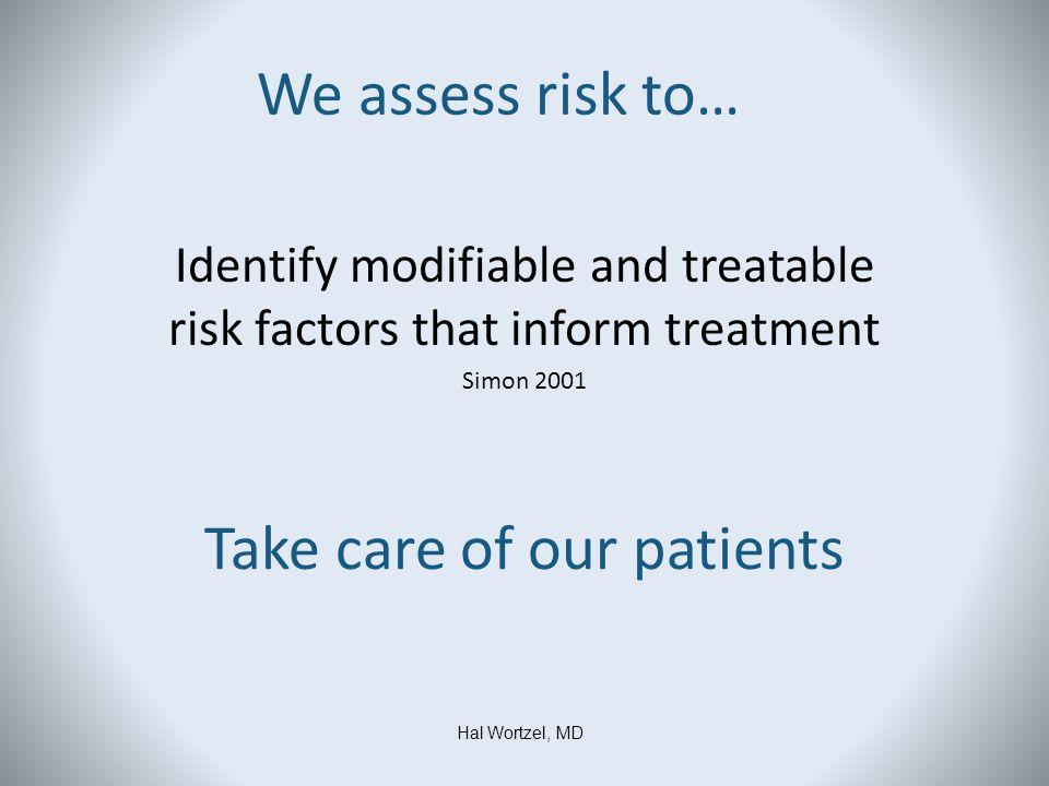 Rudd et al.2006 Risk Factors vs.