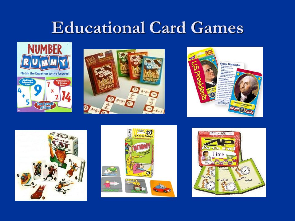 Educational Card Games