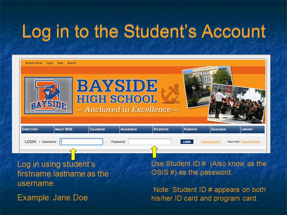 Access ISIS (Integrated Student Information System) On the left-hand side of screen : 1.