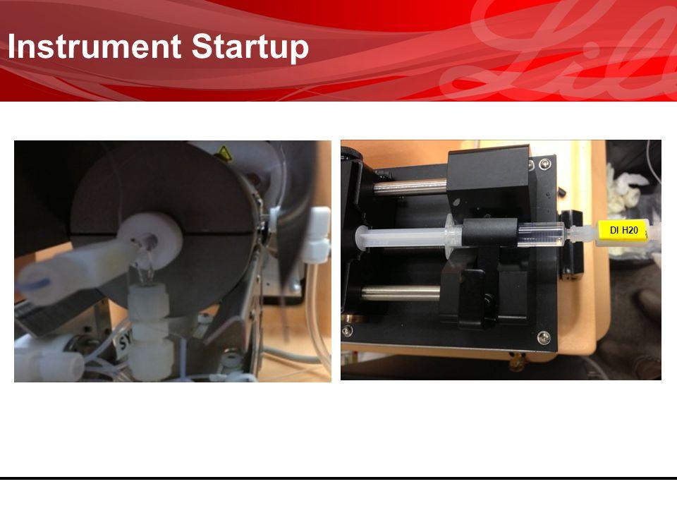 Instrument Startup DI H20