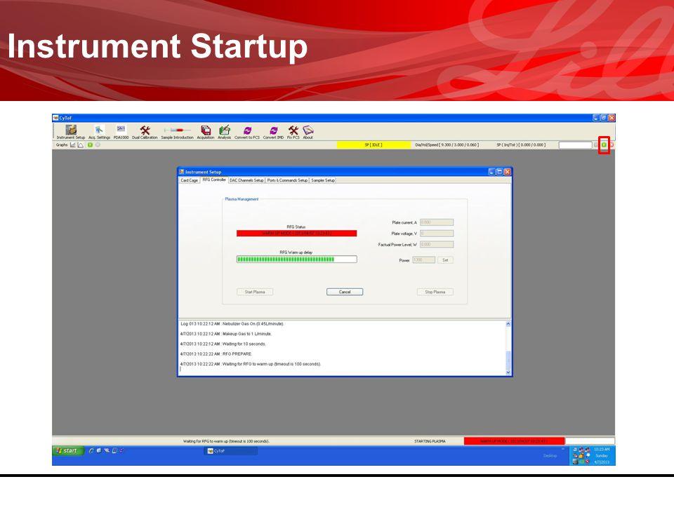 Instrument Startup