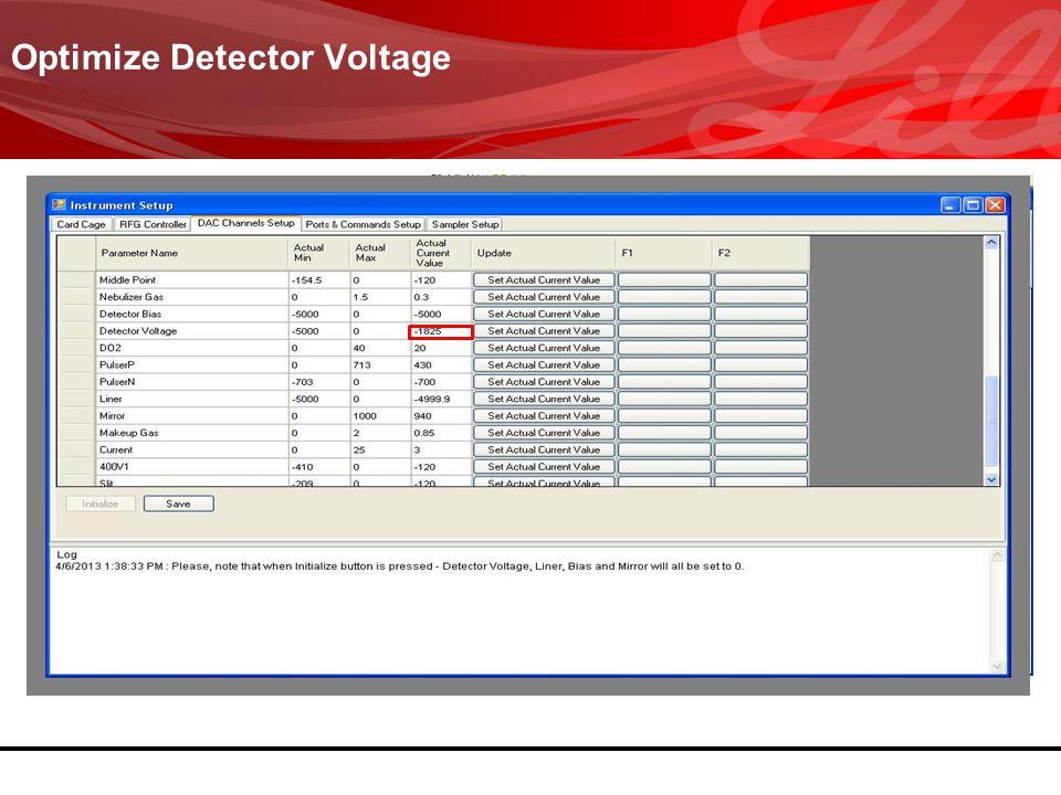 ............... Optimize Detector Voltage