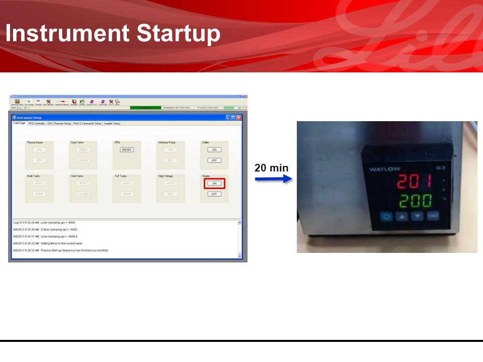 Instrument Startup 20 min