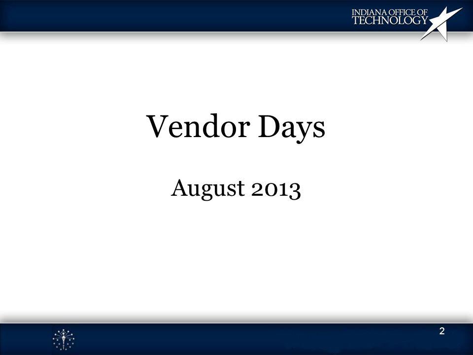 Vendor Days August 2013 2