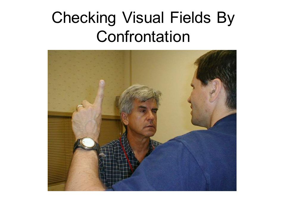 Checking Visual Fields By Confrontation