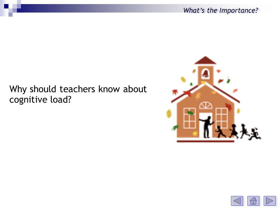 Why should teachers know about cognitive load Whats the Importance