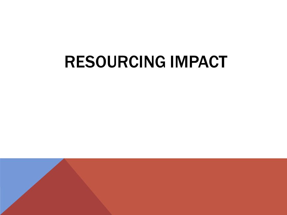 RESOURCING IMPACT