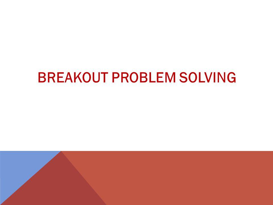 BREAKOUT PROBLEM SOLVING