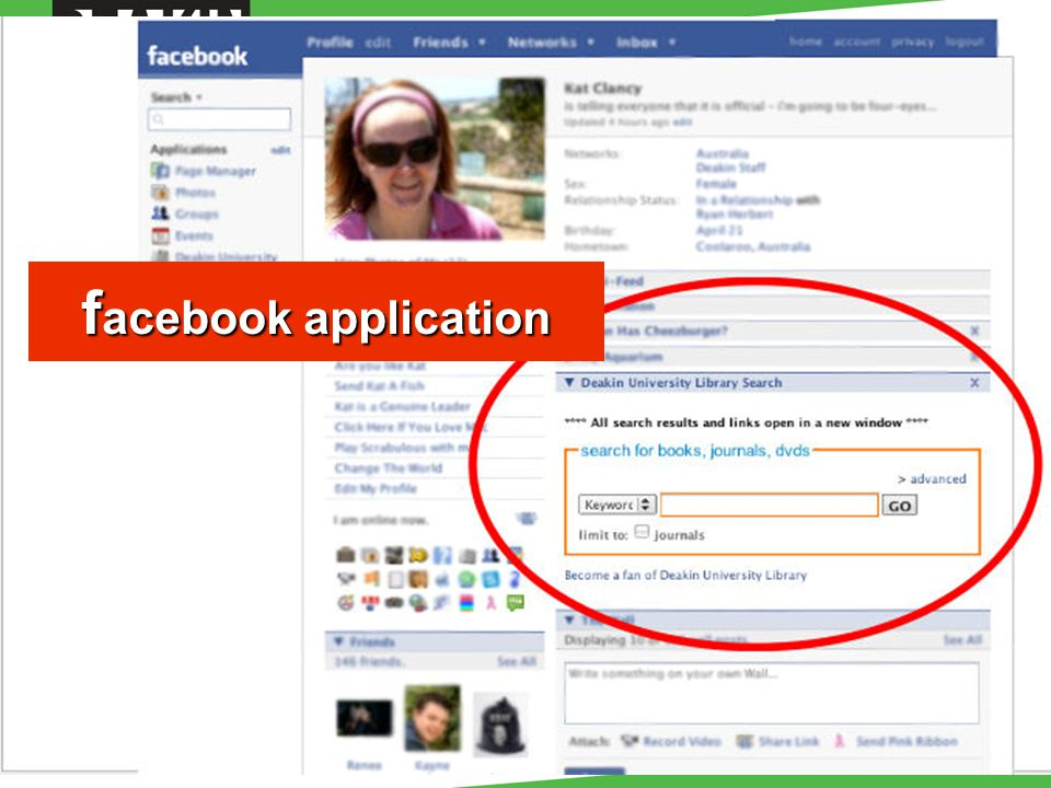 f acebook application