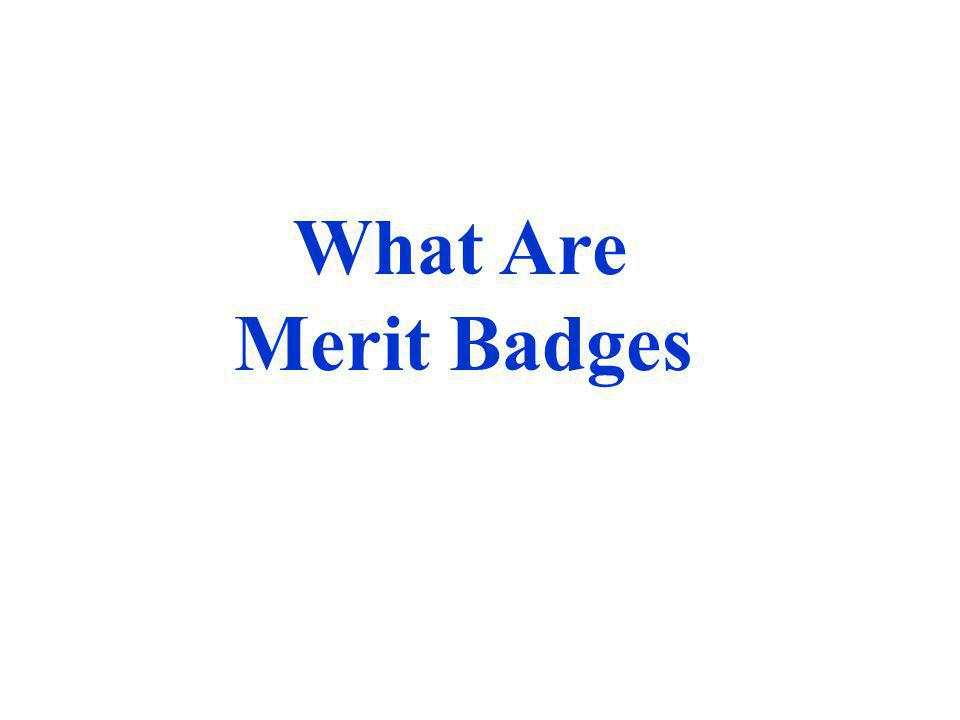 Merit Badges Are Courses of Instruction for a Particular Subject Over 100 merit badges are offered, ranging from American Business to Woodwork.merit badges Each merit badge has specific, detailed requirements for completion.