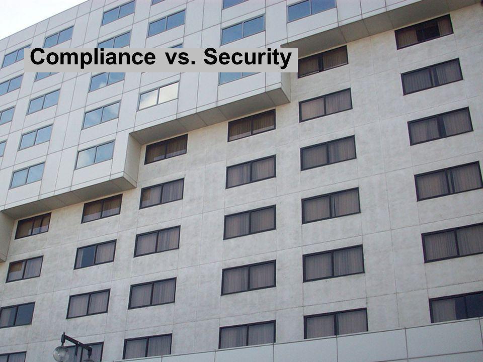 Compliance vs. Security