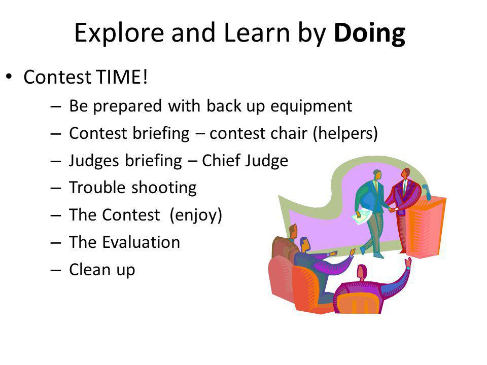Explore and Learn by Doing Contest TIME.